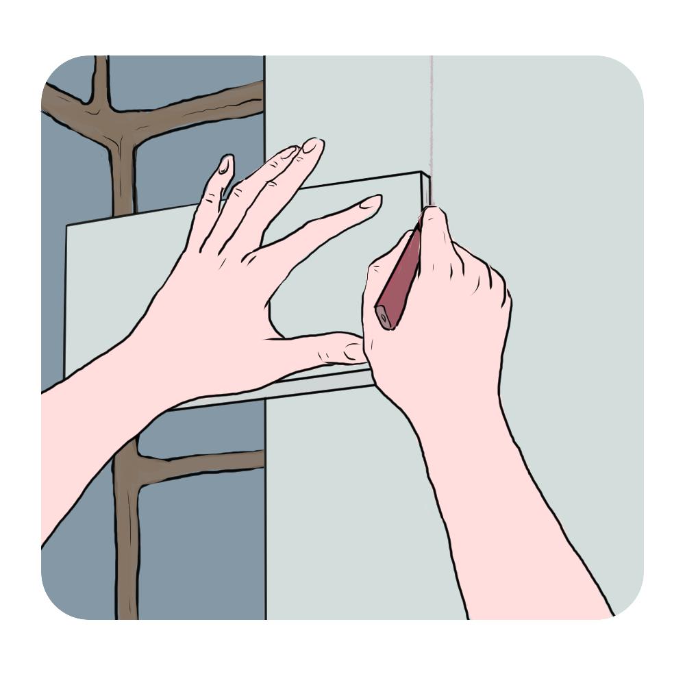 tracing plasterboard corner shape