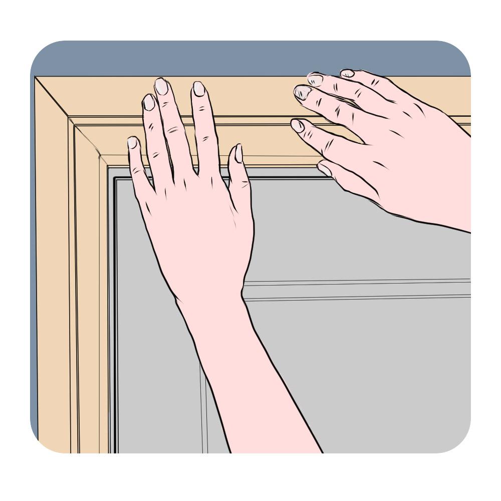 fix horizontal architrave