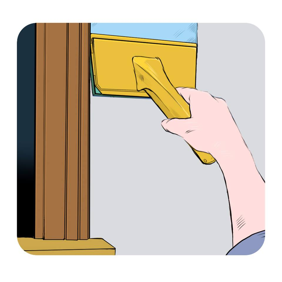ensure wall corners are evenly painted