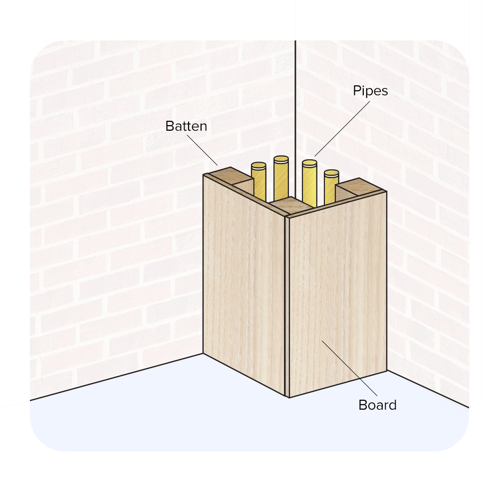 Method 2: Boxing-In Pipes at a Corner