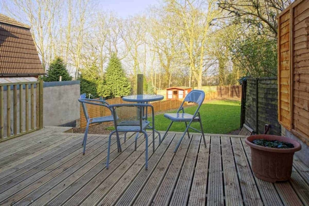 decking with chairs
