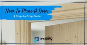 how to plane a door