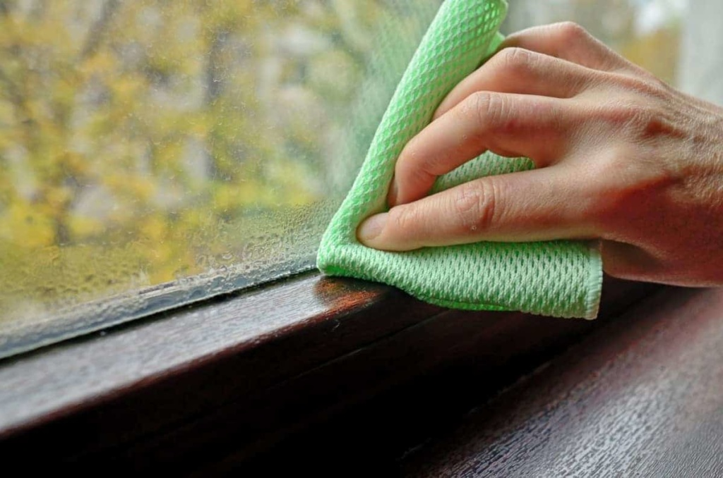 wiping off condensation