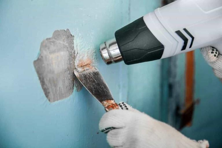 heat gun paint stripping