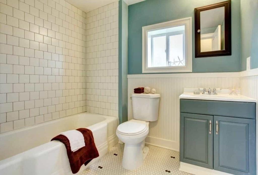 clean and elegant bathroom