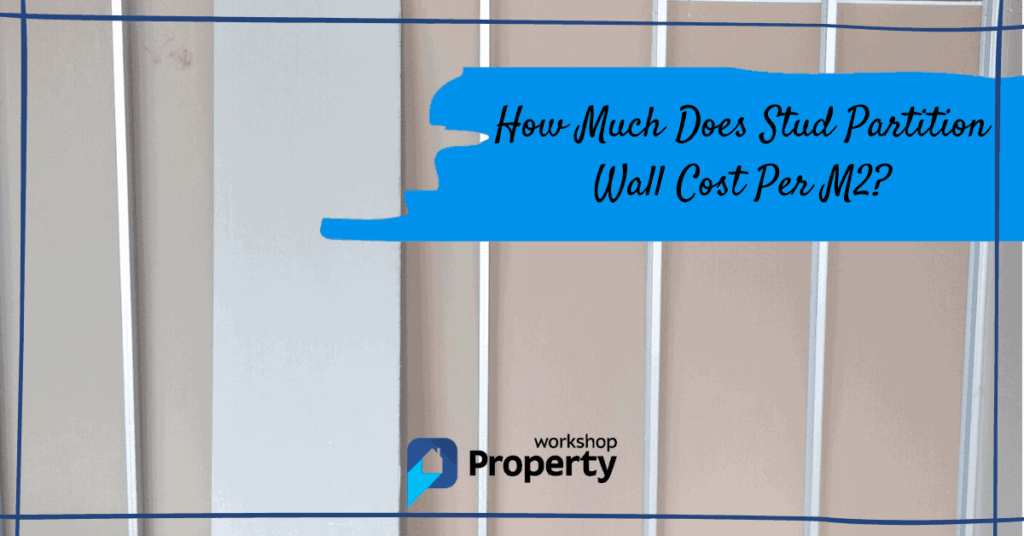 stud partition wall cost per m2