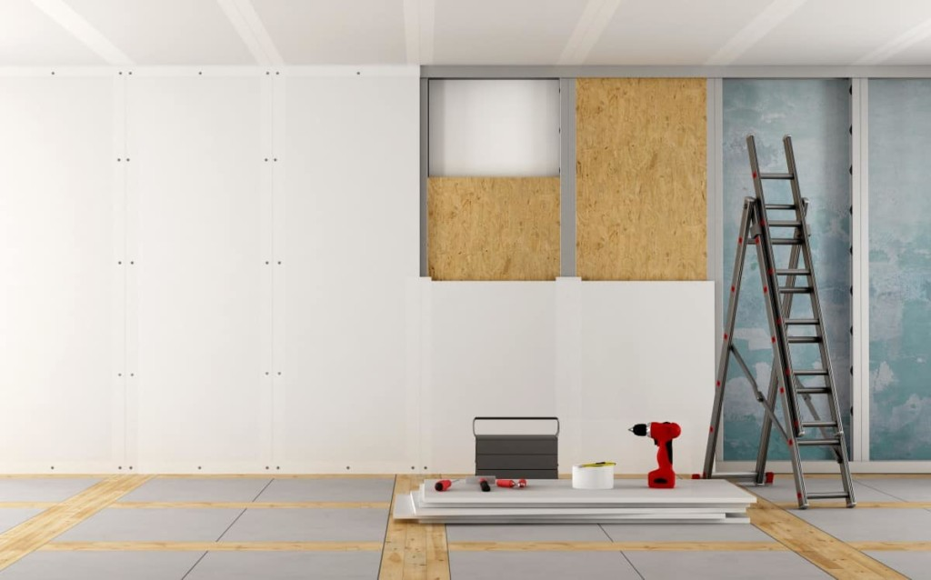 fitting plasterboard with scrim tape