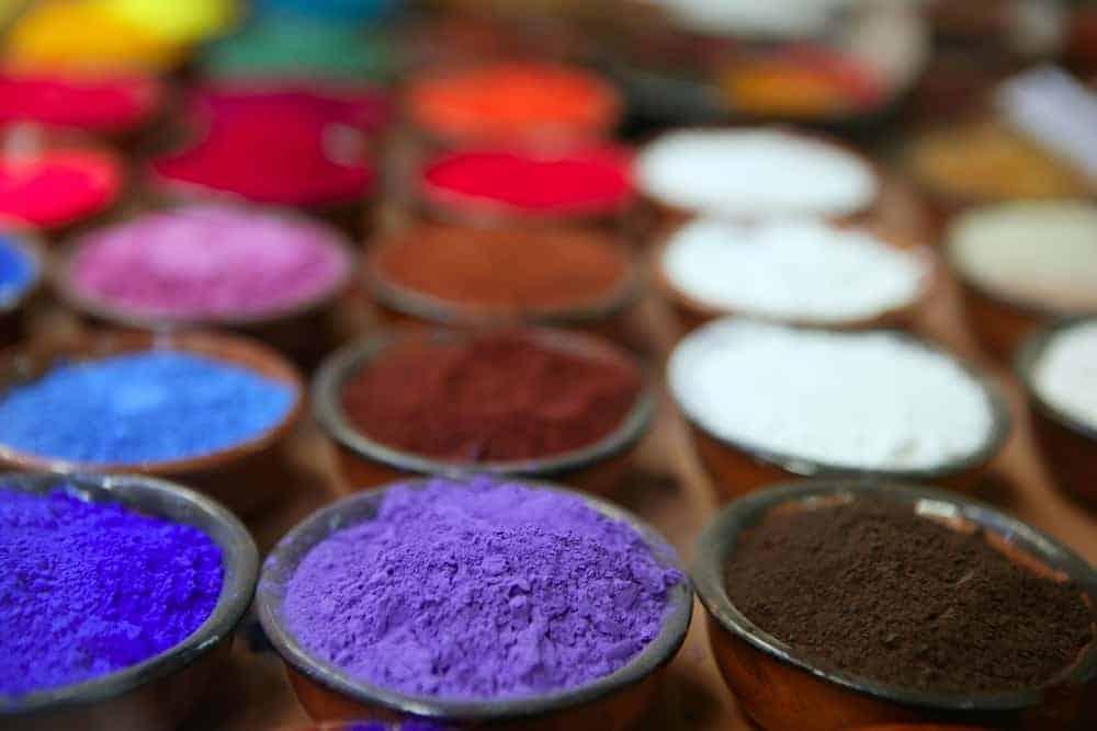 colorful powder pigments