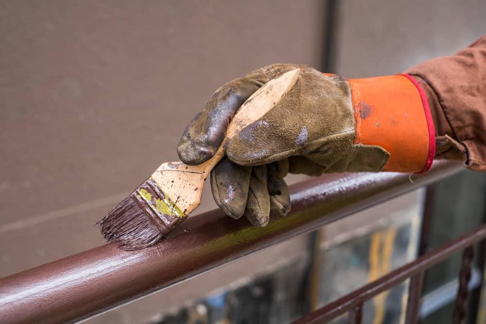 painting metal railings
