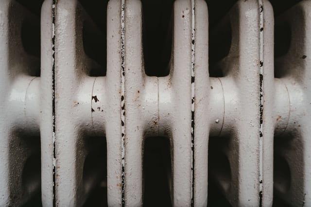 white rusty radiator