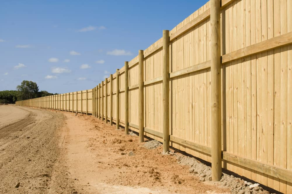 newly installed close board fence